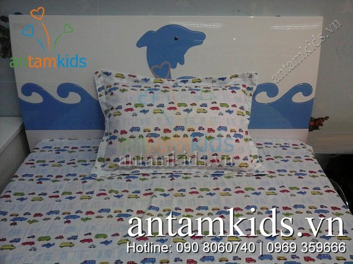Chăn ga 1001 hình ô tô ATKDS56 sành điệu cho bé trai - AnTamKids.vn