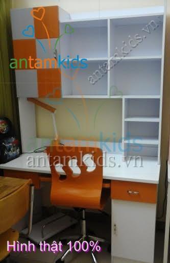 Bàn học cho bé trai BHH855 màu cam cá tính đáng yêu nhất - AnTamKids.vn