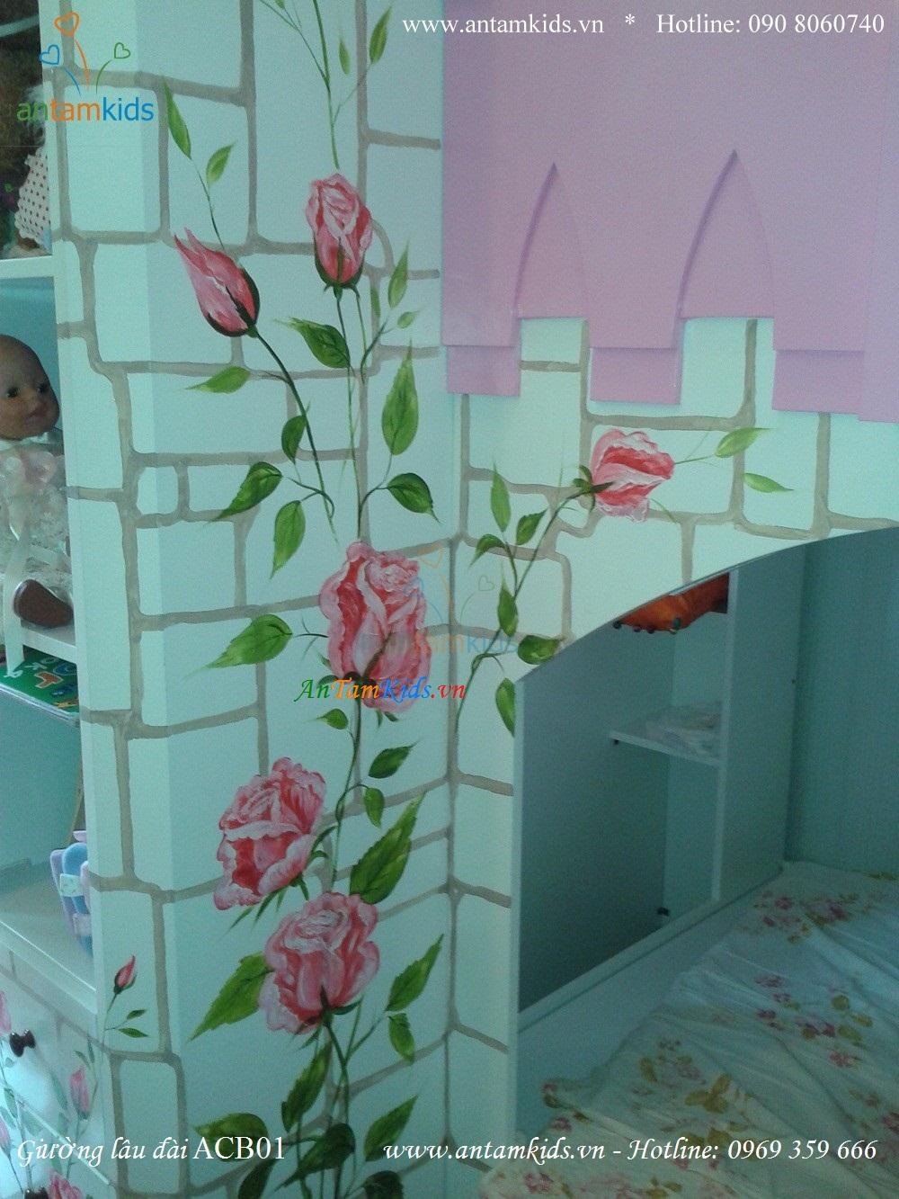 Giường lâu đài công chúa Princess Bao & Gấu ACB01 đẹp như một giấc mơ - AnTamKids.vn