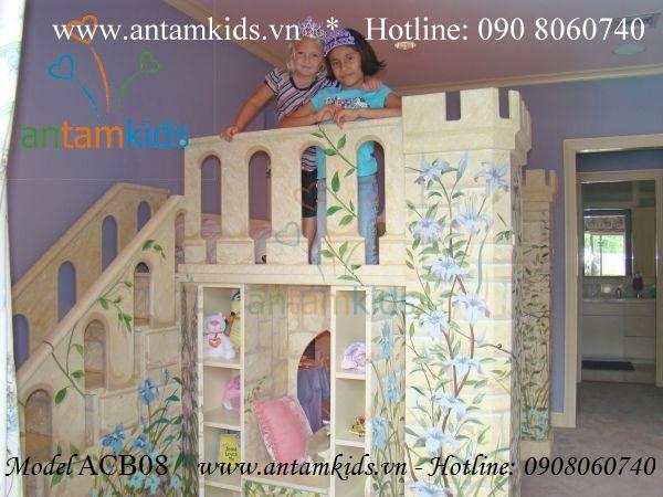 Giường lâu đài Ariana ACB08