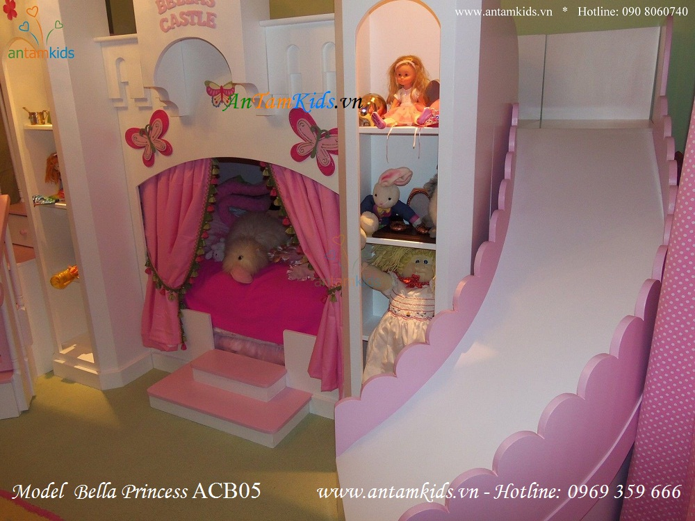 Giường lâu đài Bella Princess ACB05