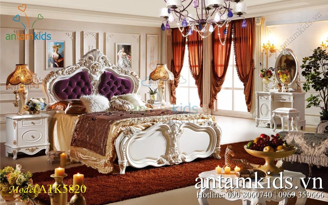 Phòng ngủ tân cổ điển French Style ATK5820 lãng mạn đầy sang trọng - AnTamKids.vn