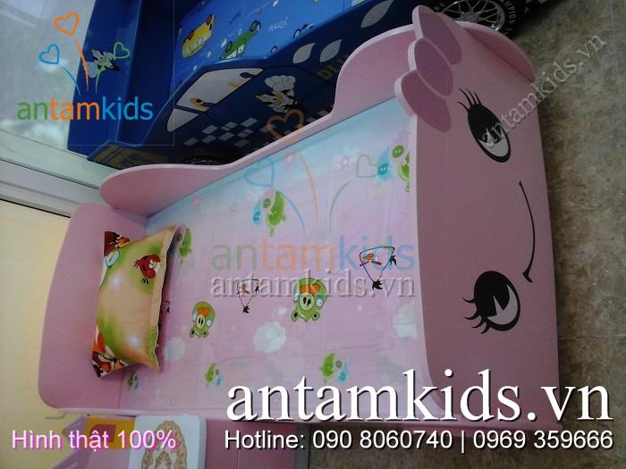 Phòng ngủ Hello Kitty hồng ngộ nghĩnh - AntamKids.vn