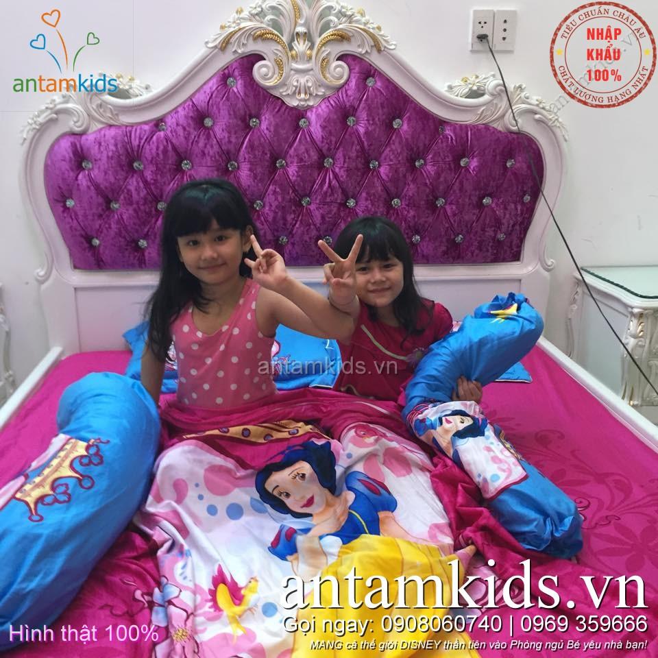 Chăn ga gối Công chúa Bạch Tuyết dịu dàng quyến rũ - antamkids.vn