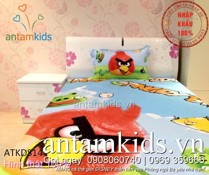 Bộ chăn ga gối Angry Birds - AnTamKids.vn
