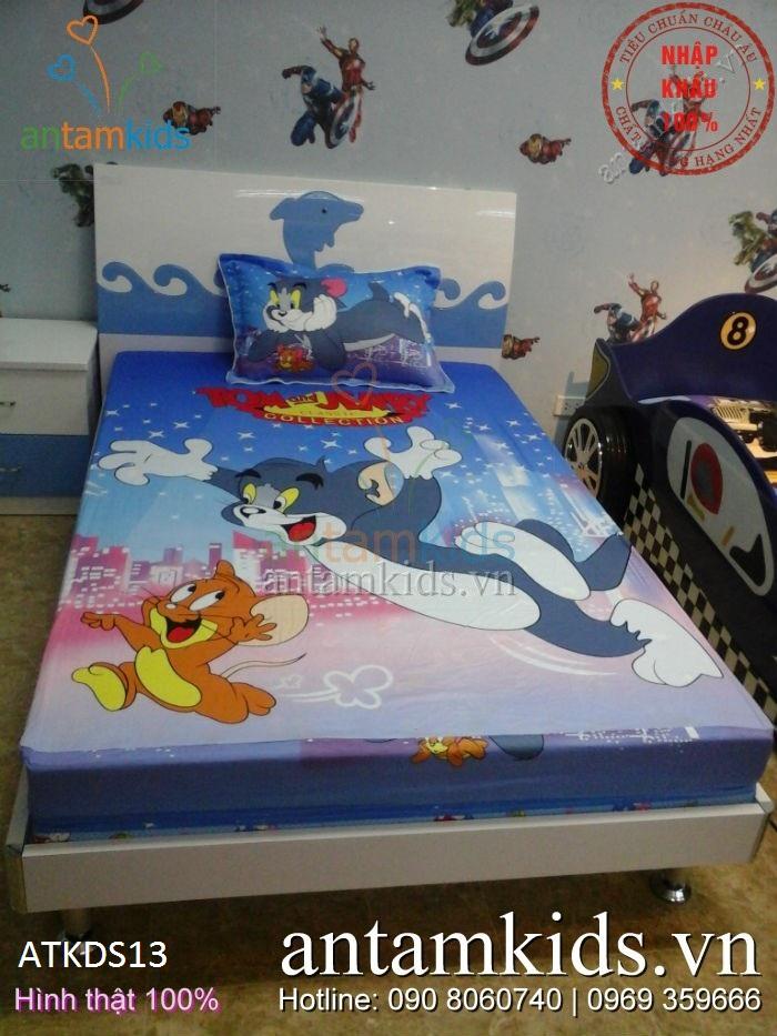 Chăn ga gối trẻ em hoạt hình Tom & Jerry ngộ nghĩnh cho bé trai bé gái