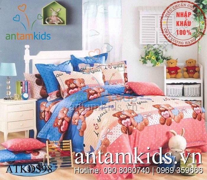 Chan ga goi gau Teddy hong xanh de thuong ATKDS98 - AnTamKids.vn