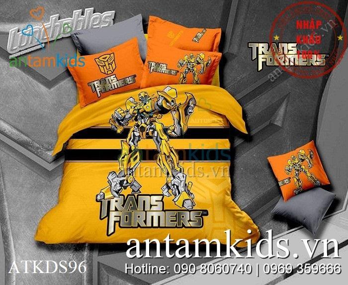 Chăn ga gối Transformers Robot biến hình hoành tráng ATKDS96 - antamkids.vn