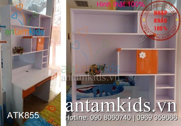 Bàn học trẻ em ATK855 màu cam cá tính