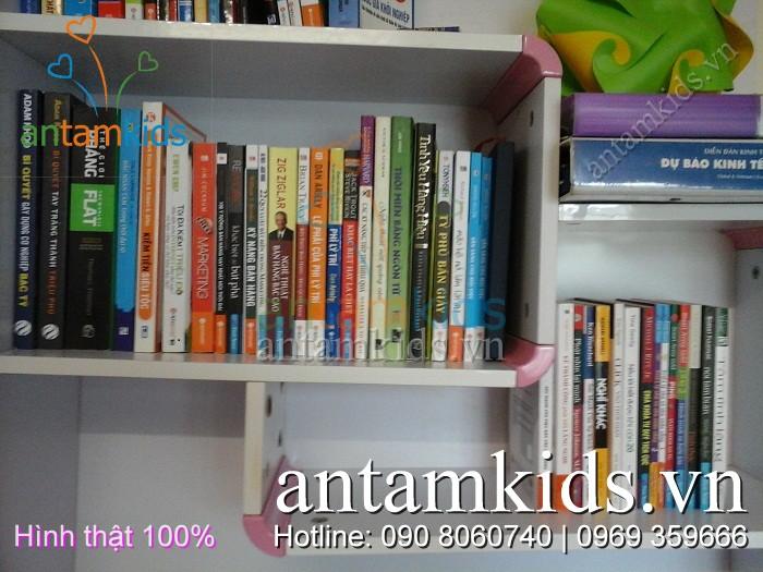 Bàn học hoa anh đào nhật bản sắc hồng cho bé gái BHH836 antamkids.vn