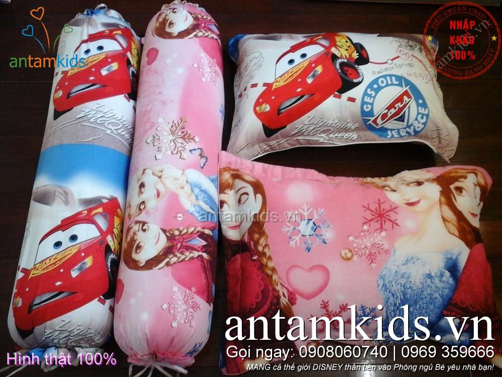 Gối ôm trẻ em đẹp hình Công chúa băng giá Frozen Elsa Anna choBé Gái