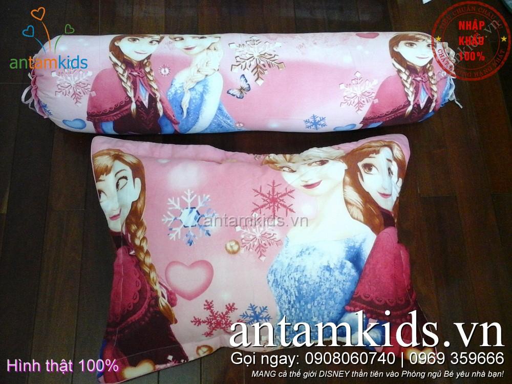 Gối ôm trẻ em xinh xắn hình Công chúa băng giá Frozen Elsa Anna choBé Gái