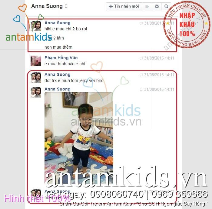 Drap men goi Minion Tom Jerry Angry Birds cua con trai me Anna Ho Chi Minh antamkids