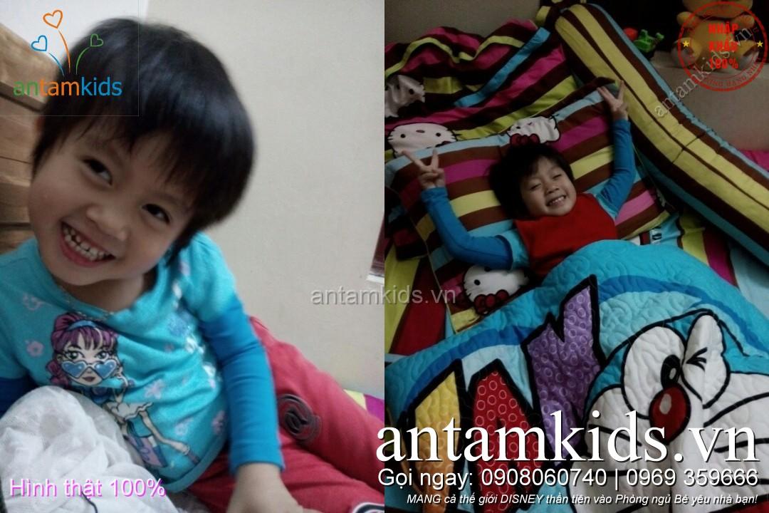mền drap ra gối nệm cho bé trai bé gái antamkids disney cao cấp nhập khẩu hà nội, tphcm