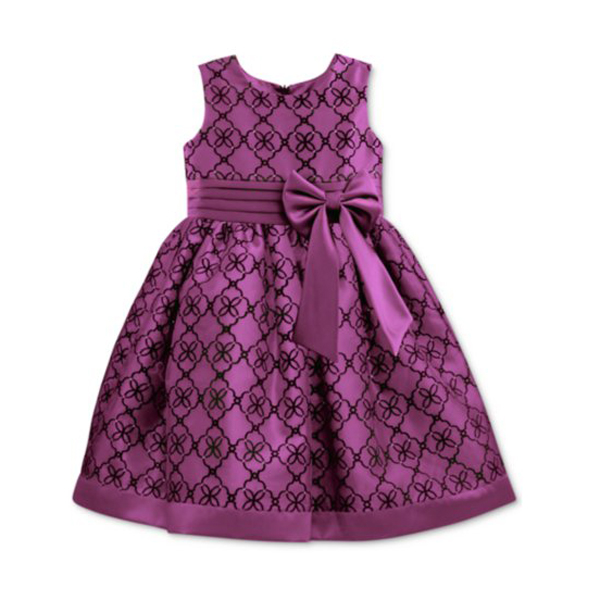 BG-BOW DRESS- PURPLE