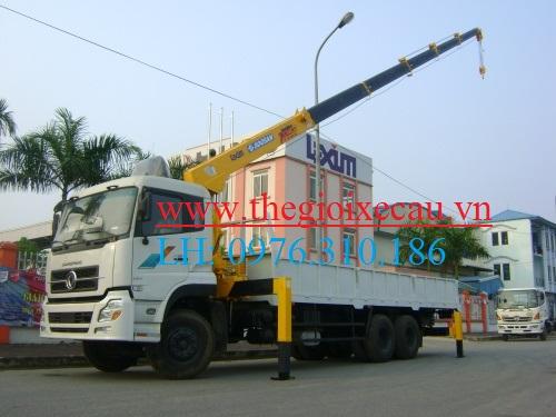 Xe tải gắn cẩu- Dongfeng gắn cẩu 10T