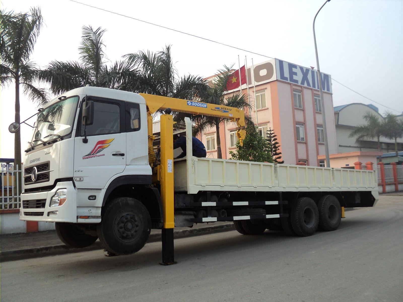 Xe tải gắn cẩu- Dongfeng gắn cẩu 8T