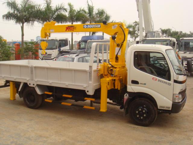 Xe tải Hino XZU720 gắn cẩu Soosan