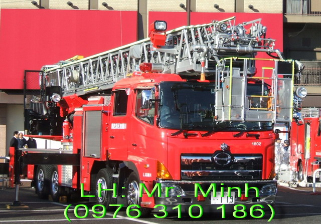 Xe cứu hỏa- Xe cứu hỏa thang nâng Nhật Bản
