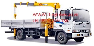 Xe tải gắn cẩu- Hyundai HD170 gắn cẩu 3T