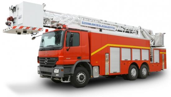 Xe cứu hỏa- Xe cứu hỏa thang nâng nhập khẩu