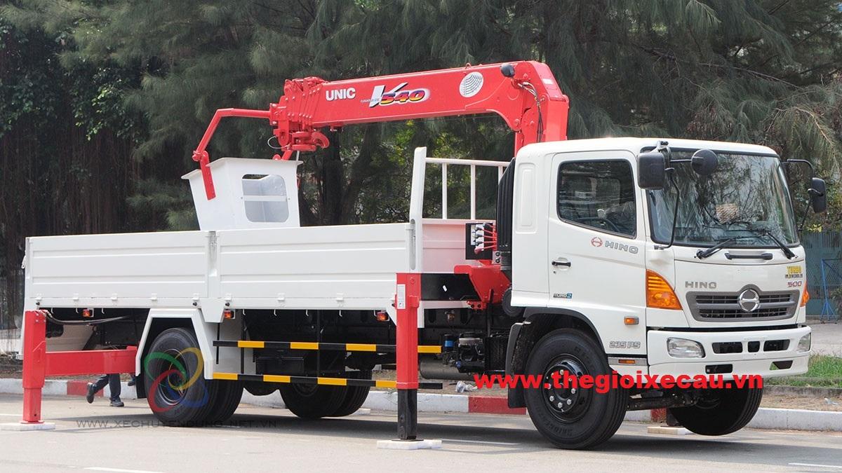 Bán xe cẩu tự hành 3 tấn Hino- Unic