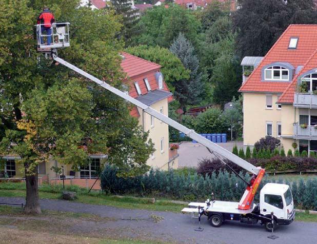 Xe thang nâng cắt tỉa cây xanh