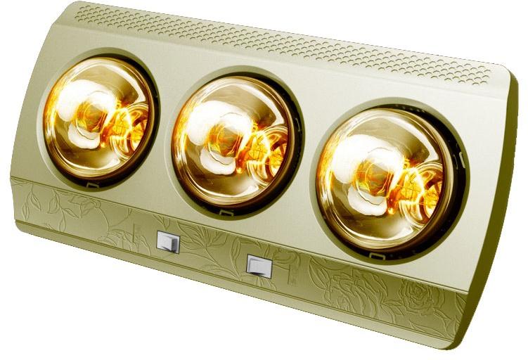 Đèn sưởi nhà tắm Hans 3 bóng vàng