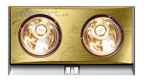 Đèn sưởi nhà tắm hans 2 bóng vàng có giá 650.000đ