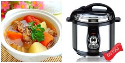 Thịt bò hầm khoai tây thơm ngon với nồi áp suất điện Gali -1600