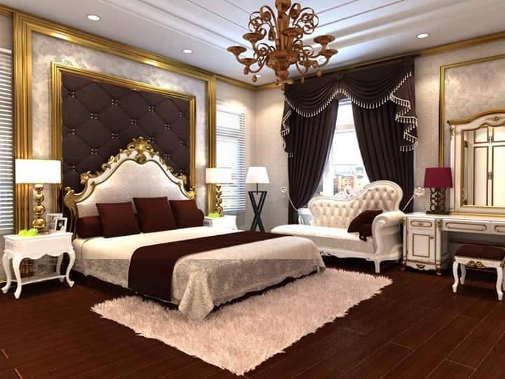 thiết kế nội thất phòng ngủ tân cổ điển Anh Thắng Phú Thọ