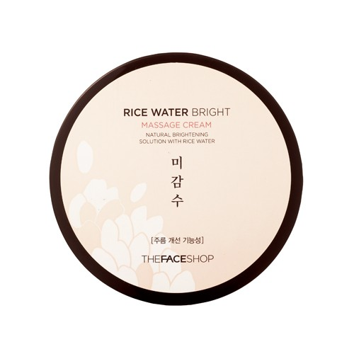 Rice Water Bright Massage Cream - Kem massage gạo của The Face Shop