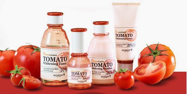 Bộ dưỡng cà chua premium tomato whitening skinfood