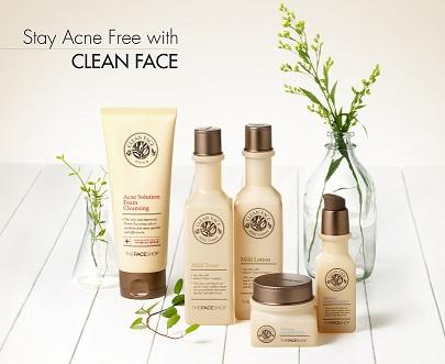 Bộ dưỡng Clean Face Oil Control của The Face Shop