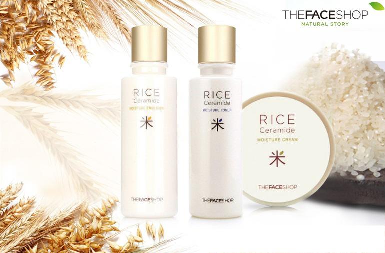Bộ dưỡng gạo Rice Ceramide moisture The Face Shop