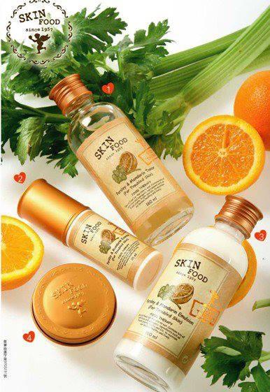 Bộ dưỡng quýt cần tây Skinfood - Parsley and Mandarin
