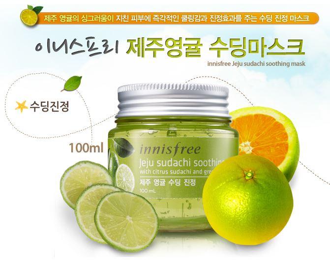 Jeju Sudachi Soothing Mask Innisfree