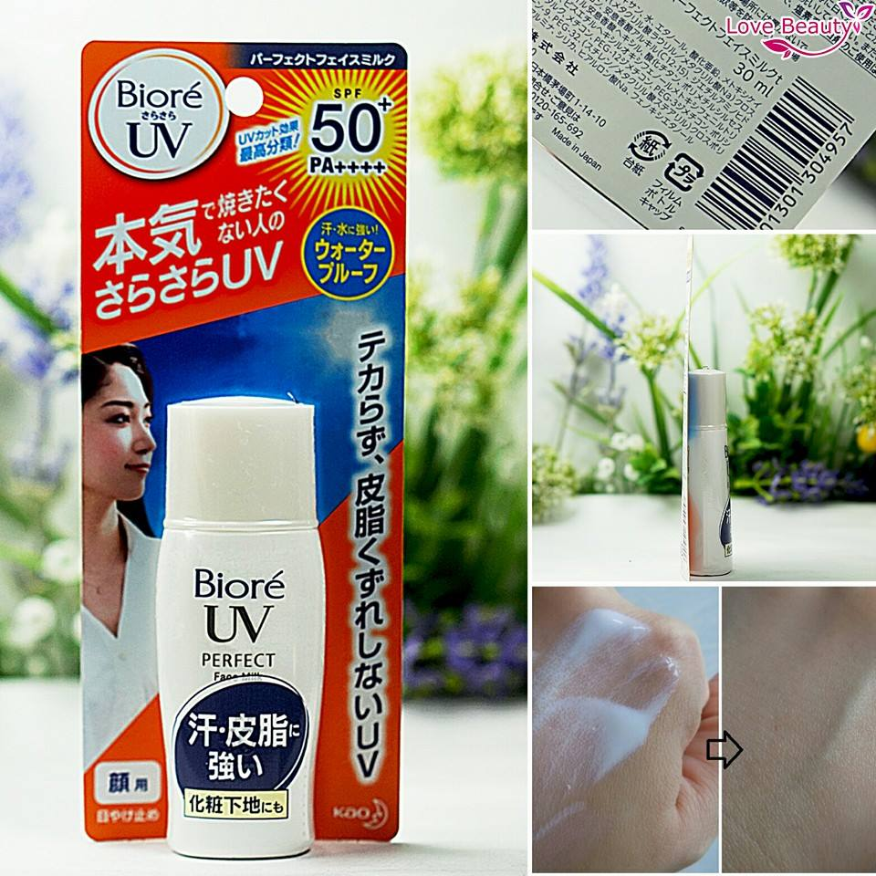 Kem chống nắng Biore UV Perfect Face Milk