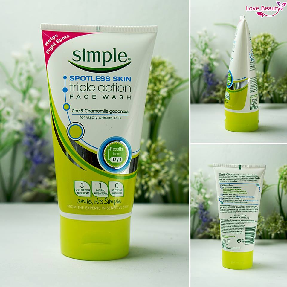 Simple Spotless Skin Triple Action Face Wash