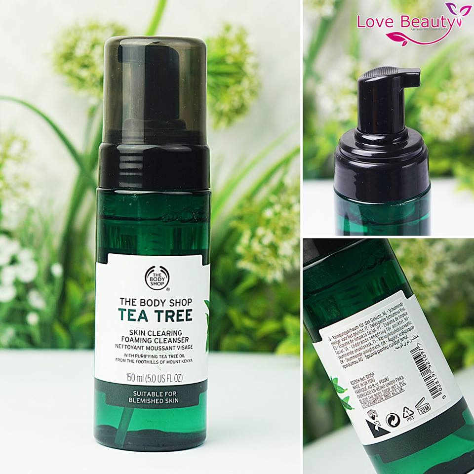 Sữa Rửa Mặt Tea Tree Skin Clearing Foaming Cleanser - The Body Shop