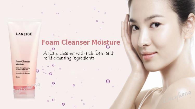 sữa rửa mặt foam cleanser moisture - Laneige