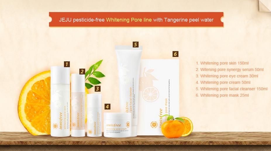 Bộ dưỡng whitening pore của innisfree