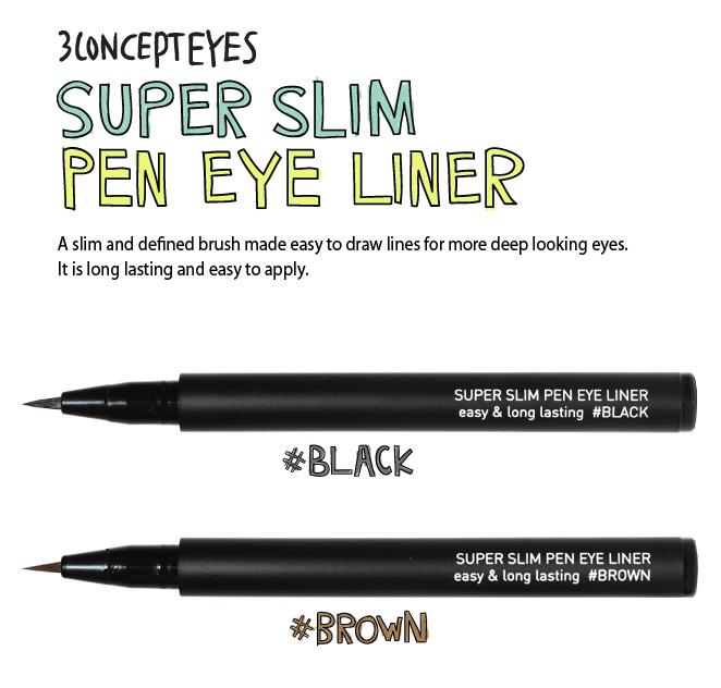 Kẻ mát dạ 3CE super slim pen eye liner 3ce