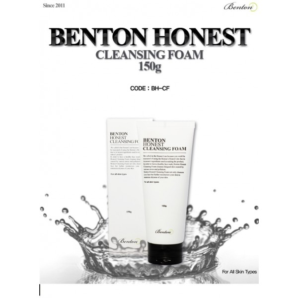 Sữa rửa mặt BenTon Honest Cleansing Foam