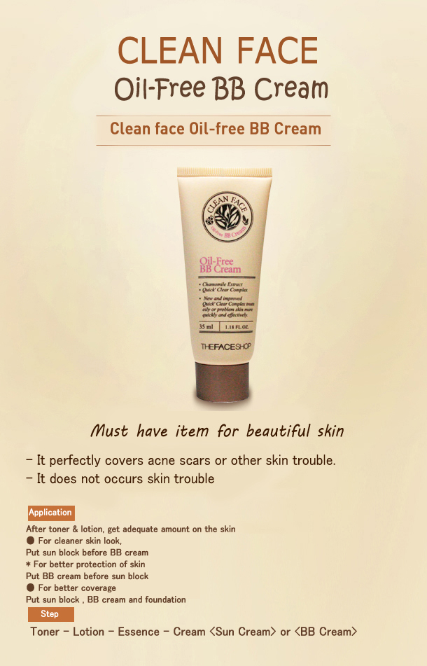 BB cream oil free của The Face Shop