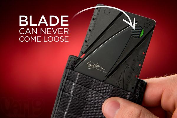 Tab an toàn thông minh đảm bảo bạn sẽ không bao giờ bị đứt tay khi con dao gập đi.