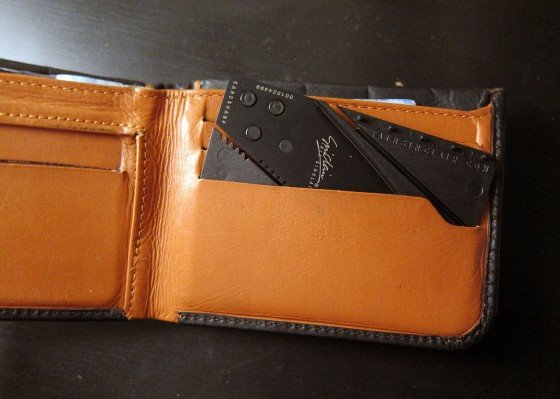 Cardsharp Credit Card Knife in Wallet