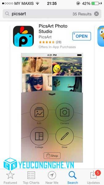 Chèn ảnh vào màn hình khóa iPhone, iPad với PicsArt Photo Studio - 20366