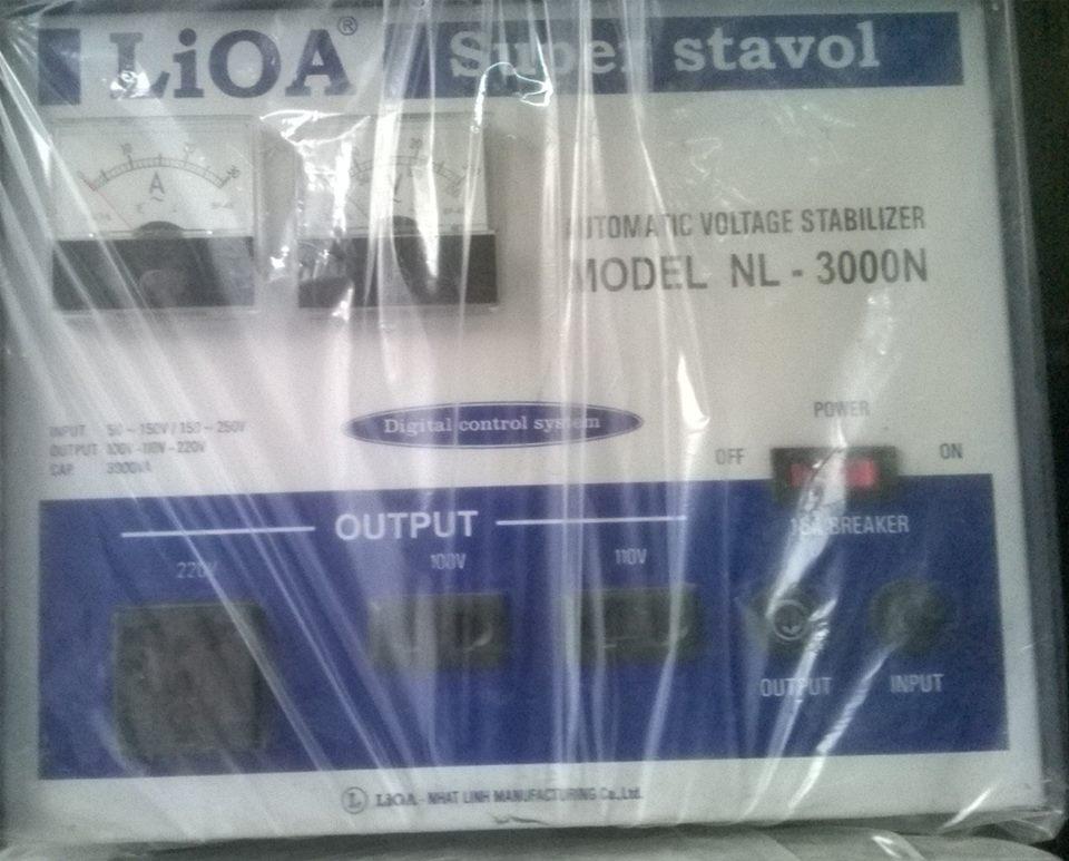 ỔN ÁP LIOA 3KVA CŨ DẢI 150V - 250V