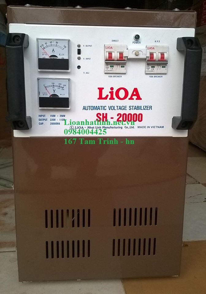 ổn áp lioa 20kva model sh - 20000 giá bao nhiêu